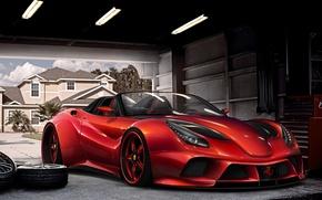 Picture red, The Ferrari F12 Berlinetta, Virtual Tuning