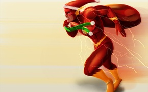 Picture holiday, new year, Christmas, gifts, bag, flash, santa, Barry Allen, dc comic