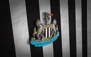 Picture Newcastle United, football, 3D logo, sport, Premier League, wallpaper, England