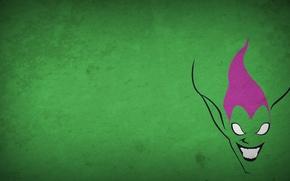 Wallpaper figure, minimalism, green goblin