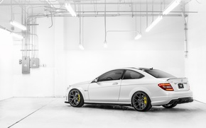 Picture white, lamp, Mercedes-Benz, white, AMG, rear, Mercedes Benz, C-Class, C 63