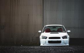 Picture tuning, white, subaru, impreza, Subaru Impreza, wrx sti