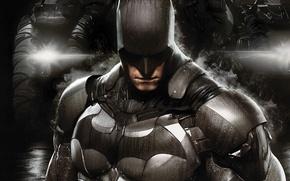 Picture drops, lights, smoke, armor, fighter, equipment, defender, Bruce Wayne, The Batmobile, Bruce Wayne, Warner Bros. …