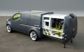 Picture tuning, VW Concept T, Rear And Side, 2007 Nissan NV200 - Sliding Cargo Pod