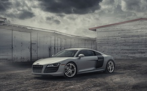 Picture Audi, Car, Clouds, Cool, Clean, Photography, Supercar, Silver, Fog, Exotic, Sharp, Awesome, European Cars