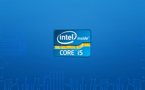 Wallpaper logo, intel, hitech, intel i5