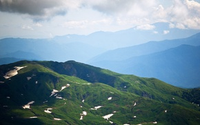 Picture summer, landscape, mountains, morning, Russia, The Caucasus, Adygea