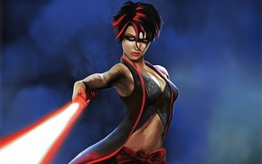 Picture fiction, Star Wars, lightsaber, sith, sith lady