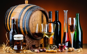 Picture alcoholic beverages, barrel, wood, flavors