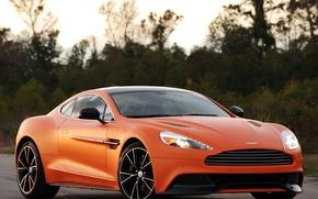 Picture Aston Martin, Aston Martin, supercar, orange, Vanquish