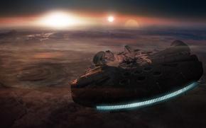 Picture planet, star wars, spaceship, millennium falcon, Millennium Falcon
