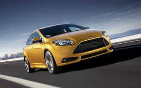 Picture Ford, Yellow, Focus