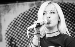Picture Girl, Wallpaper, Eyes, Blonde, Photo, Concert, Jenna Mcdougall On, Tonight Alive, Look, Singer, Hairs, Multi-Monitors, …