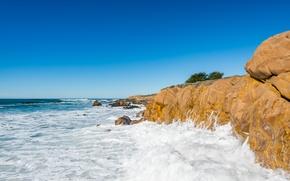 Picture sea, the sky, rocks, CA, USA, Cumbria
