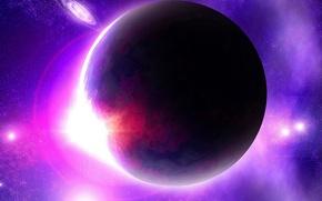 Picture space, planet, violet