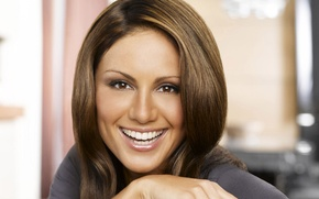 Picture girl, smile, brown hair