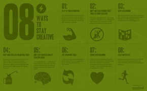 Wallpaper creative, the inscription, minimalism, 8 ways to stay creative