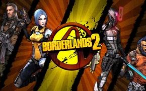 Picture logo, Maya, RPG, 2K Games, Borderlands 2, Gearbox Software, Zer0, Unreal Engine 3, Salvador, Axton, …