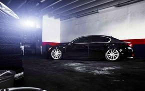 Picture Lexus, wheels, side, black, vossen, GS 350