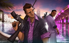 Picture Art, GTA, Tommy Vercetti, Patrick Brown, Grand Theft Auto, Vice City