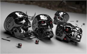 Wallpaper robot, head, Terminator