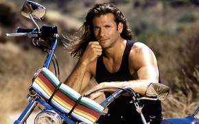 Picture pose, actor, the series, bike, TV series, Renegade, Lorenzo Lamas, Lorenzo Lamas, The Renegade, Reno …