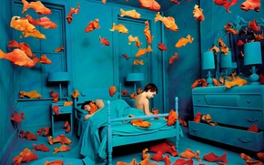 Picture fish, Sandy Skoglund, the blue room, obsessions