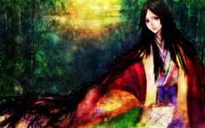 Picture look, girl, paint, surprise, art, you sasaki