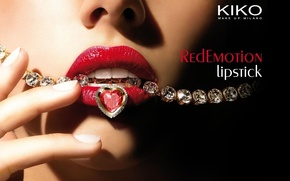 Picture girl, style, lips, diamond, decoration