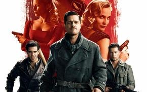 Picture Brad Pitt, Brad Pitt, Inglourious Basterds, The second World war, Quentin Tarantino, Quentin Tarantino, Inglourious …