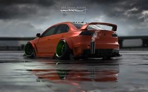 Picture Auto, Machine, Mitsubishi, Lancer, Car, Evolution, Roben Evans Design