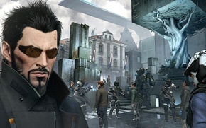 Picture cyberpunk, Square Enix, cyberpunk, Adam Jensen, adam jensen, Eidos Montreal, Deus Ex: Mankind Divided
