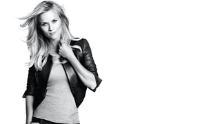 Picture actress, black and white, Reese Witherspoon, Reese Witherspoon
