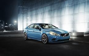 Picture asphalt, blue, sport, sedan, s60, volvo, Volvo, polestar, C60