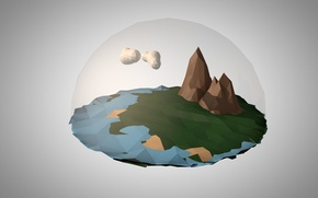 Picture mountains, the world, world, mountain, low poly
