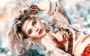 Wallpaper girl, decoration, makeup, Alessandro Di Cicco, Free Spirit