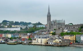 Picture sea, the sky, home, Cathedral, Ireland