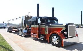 Picture custom, truck, peterbilt, great america truck show
