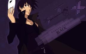 Picture mask, black hair, darker than black, Reaper, black cloak, Hei, the contractor, Blacker than black, …