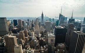 Picture city, USA, New York, Manhattan, NYC, Skyline, Empire State Building, architecture, America, United States of …