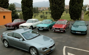 Picture BMW, cars, a lot