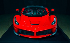Picture Ferrari, Red, Hot, Power, Front, Color, Supercar, LaFerrari