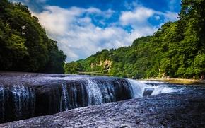 Picture Japan, waterfall, waterfall Fukiware, Gunma, Katashina River, river Katsina, Japan, Gunma Prefecture, Fukiware Falls, river, ...