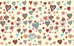 Picture holiday, heart, vector, texture, heart, drawings, hearts, widescreen Wallpaper, the Wallpapers, hd Wallpapers, hd wallpapers, …