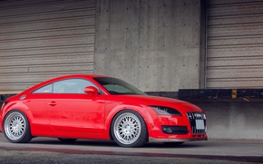 Picture Audi, red, tuning