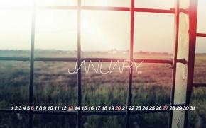 Picture light, grille, calendar, 2013, january, January