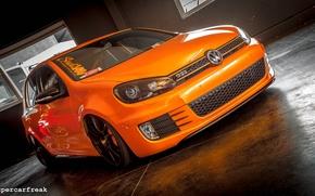 Picture volkswagen, golf, gti, orange