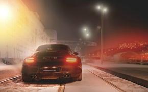 Picture the city, lights, Porsche