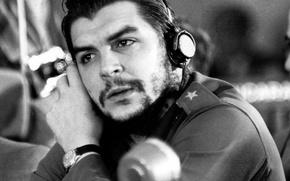 Wallpaper revolution, black and white, Ernesto Che Guevara, Che Guevara