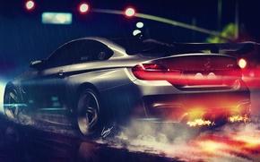 Picture BMW, ART, Vorsteiner, Wheels, Rear, Nigth, GTRS4, HANSEN
